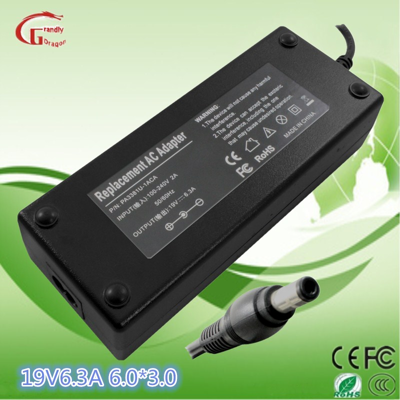 Portable Battery Charger Toshiba Laptop 19V 6.3A